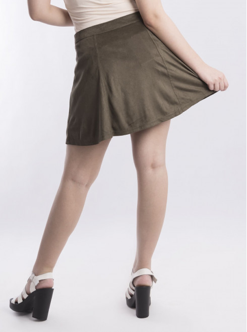 Corduroy Skirts With Front Buttons