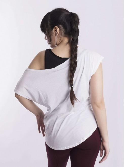 Wide Round Neck T-Shirt