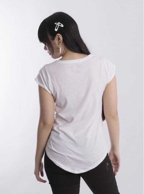 Long Back T-Shirt With Print