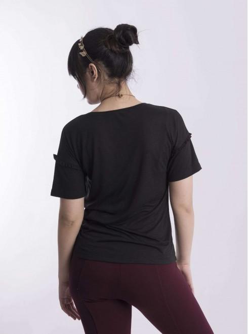 Basic Shirts With Ruffle