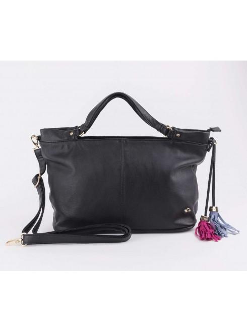 Glossy hand bag