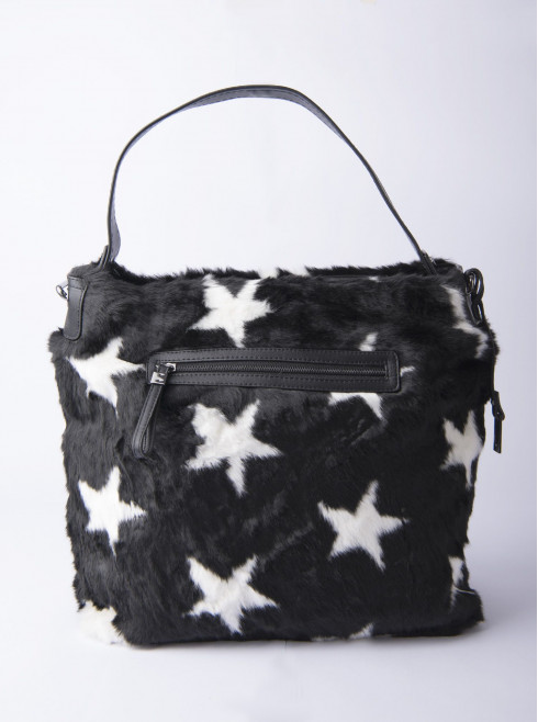 Feather hand bag