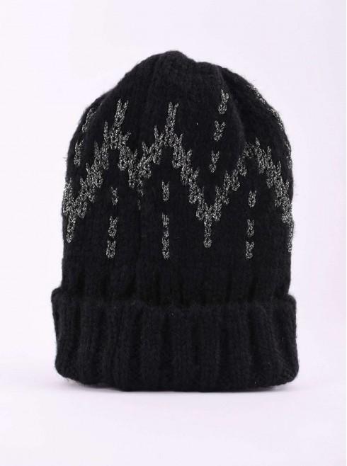 Glittery designed hat