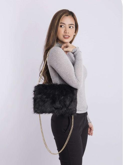 Feather shoulder bag
