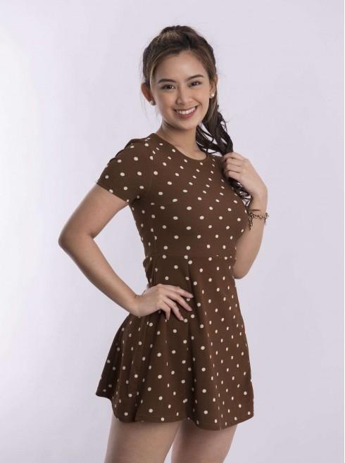 Short dress polka dots