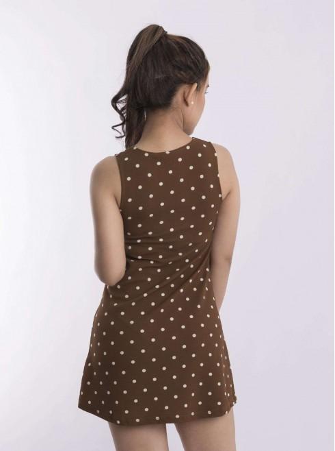 Cut sleeves with print polka dots