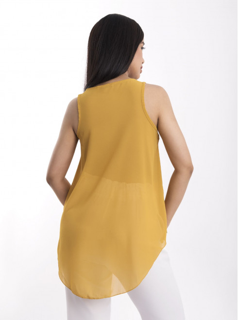 Armhole Tops With Zipper