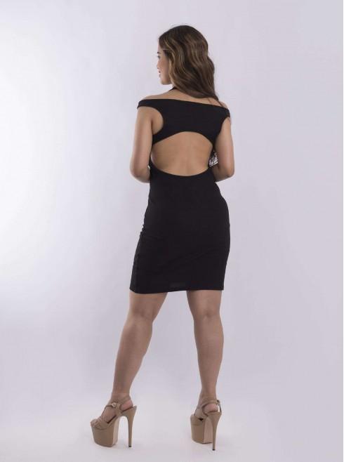 Backless ribbed short dress