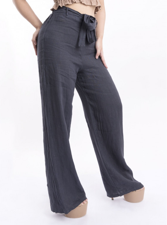 Wide Trouser With Sash