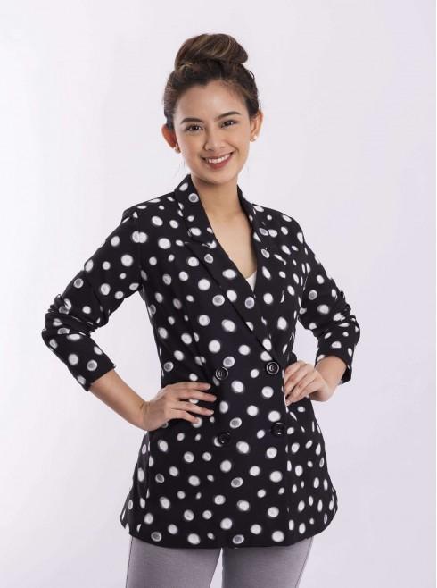 Coats with polka dots design