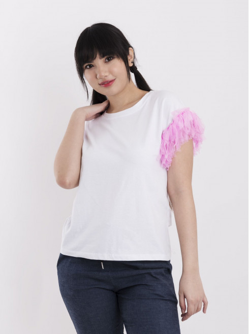 T-Shirt With Laces Sleeve