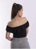 Bare shoulder crop top