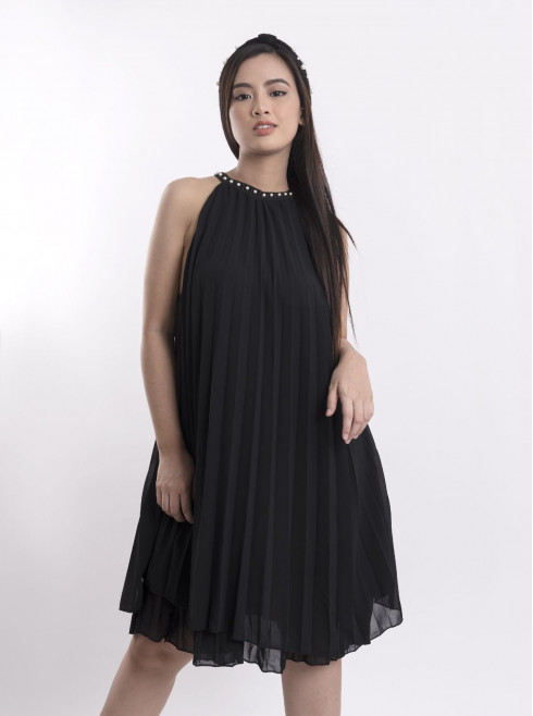 Dress With Pleated