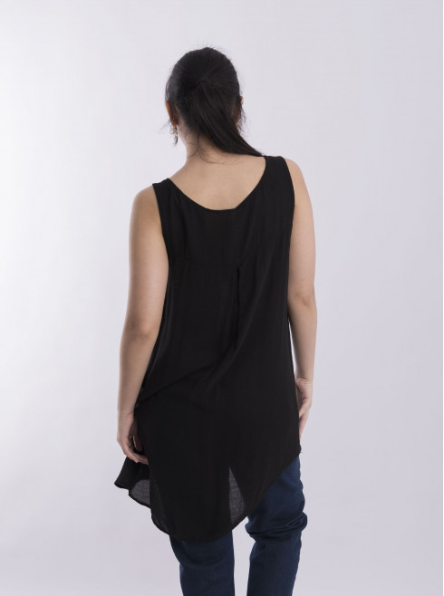 Armhole Long Fit Back Top