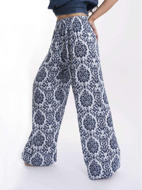 Flower Pattern Print Trousers