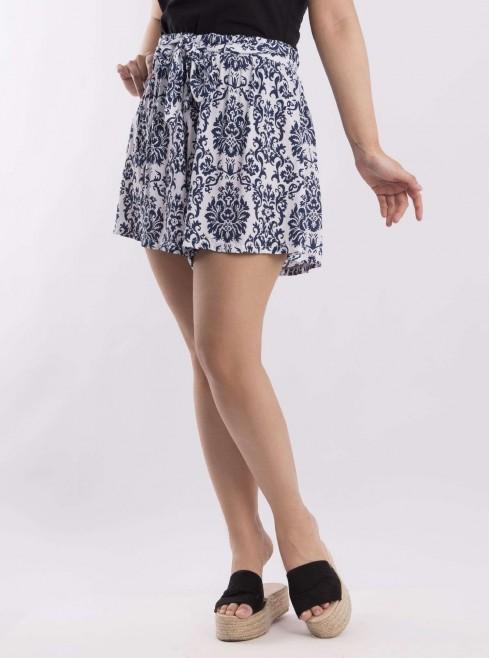 Flower Pattern Print Shorts