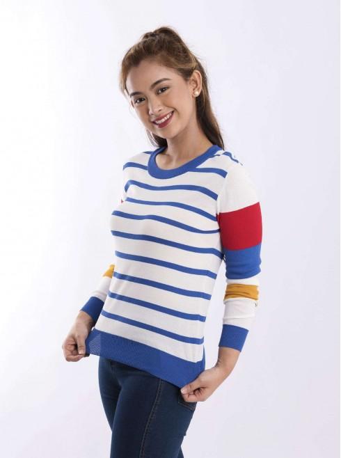 Colored Stripe Jerssy