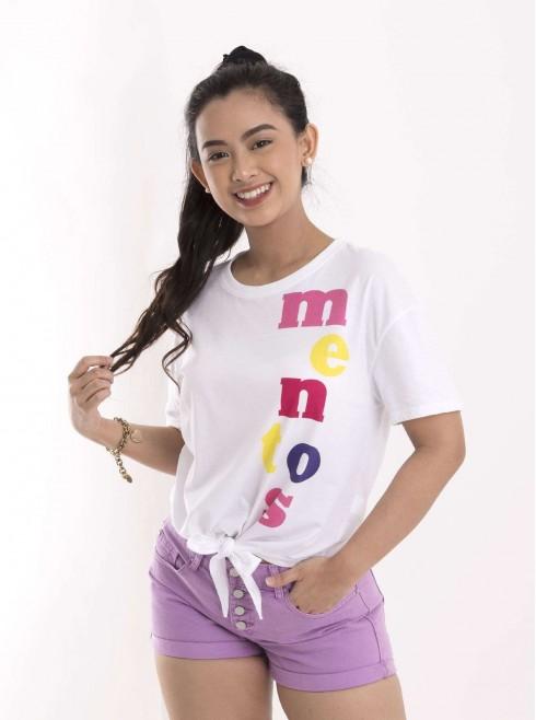 T-Shirt With Print Mentos