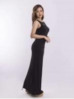 Armhole long soft dress